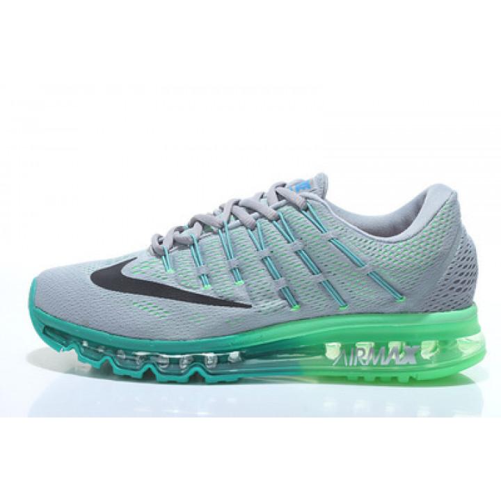 Nike Air Max 2016 серые с зеленым